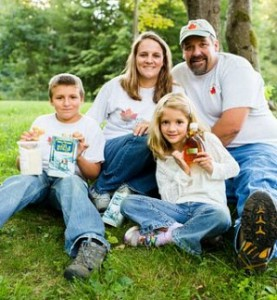 Yandow family, owners of Sugartree Maple Farm