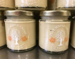 New Maple Cream Glass Containers at Sugartree Maple Farm