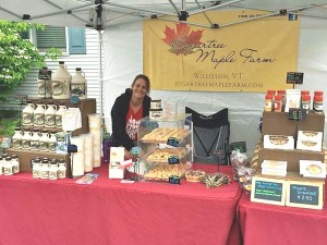 Sugartree Maple Farm at a Vermont farmer's market